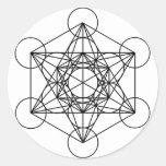 Metatron's Cube (White) Stickers