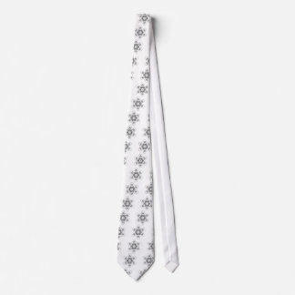 Metatron's Cube (White) Tie