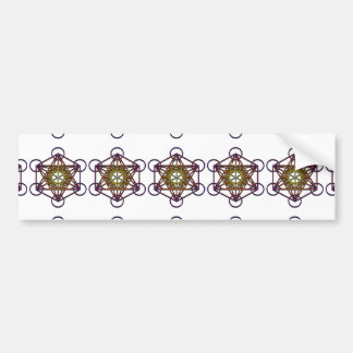 Metatron's Cube (yellow purple gradient) Symbol Bumper Sticker