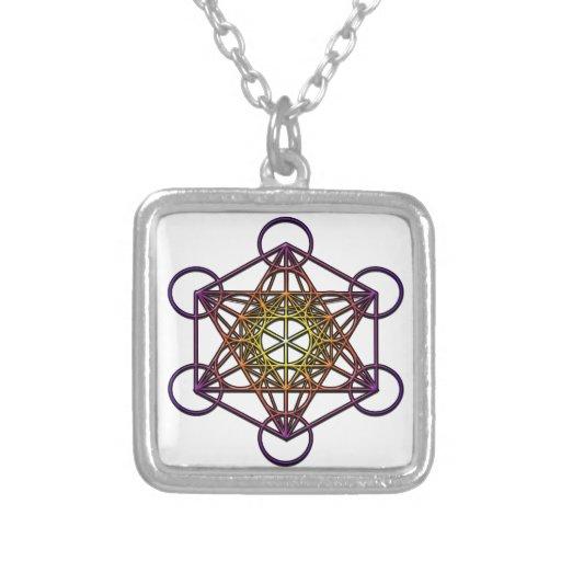 Metatron 39 s cube yellow purple gradient symbol for Metatron s cube jewelry