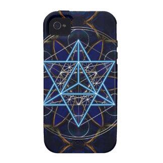 Metatrons dado - Merkaba estrella Tetraeder - Case-Mate iPhone 4 Carcasas