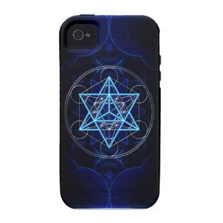 Metatrons dado - Merkaba estrella Tetraeder - iPhone 4/4S Carcasas