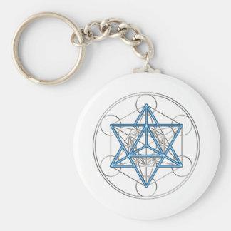 Metatrons dado - Merkaba estrella Tetraeder - Llavero Redondo Tipo Pin