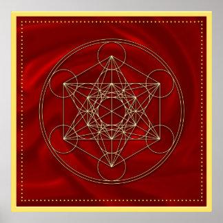 Metatrons dado - Merkaba estrella Tetraeder - Poster