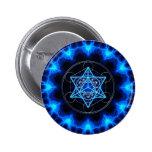 Metatrons dado - Merkaba estrella Tetraeder - Pin Redondo 5 Cm