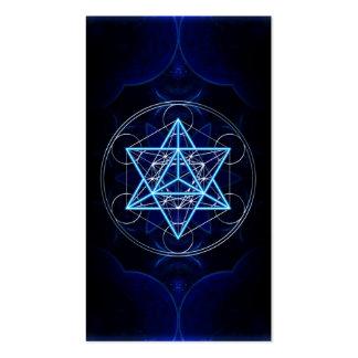 Metatrons dado - Merkaba estrella Tetraeder - Plantillas De Tarjetas Personales