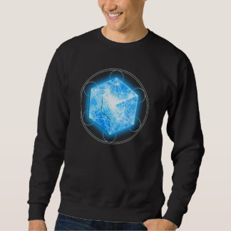 Metatrons dados/Tesseract/4D Hypercube Sudadera Con Capucha