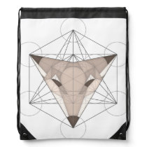 Metatron's Fox Drawstring Backpack