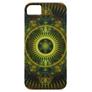 """Metatron's Magick Wheel"" - Fractal Art iPhone 5 Case"