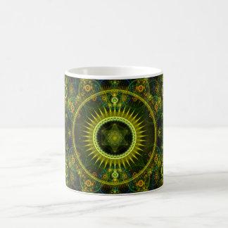 """Metatron's Magick Wheel"" - Fractal Art Coffee Mug"