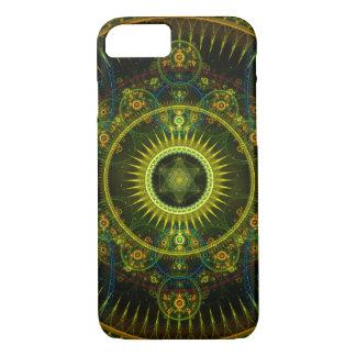 """Metatron's Magick Wheel"" - Fractal Art iPhone 8/7 Case"