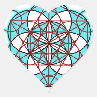 MetatronTGlow Pegatina En Forma De Corazón