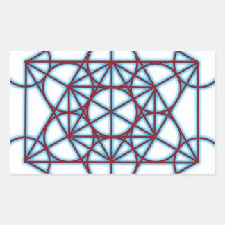 MetatronTGlow Pegatina Rectangular