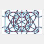 MetatronTGlow Rectangular Sticker