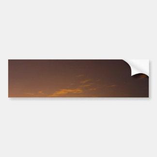 Meteor at Sunset Car Bumper Sticker