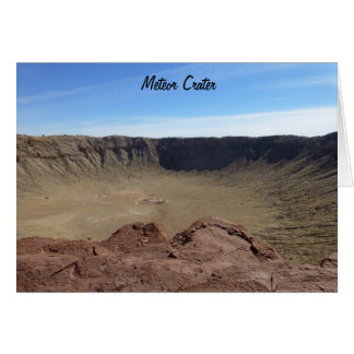 Meteor Crater Card