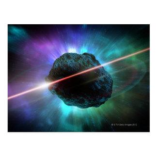 Meteor in Space Postcard