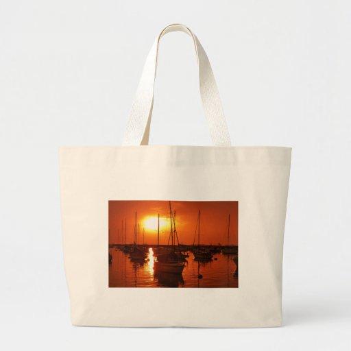 meteor like sun canvas bag