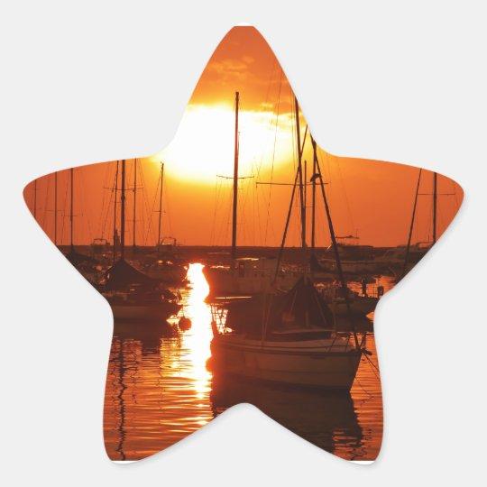 meteor like sun star sticker
