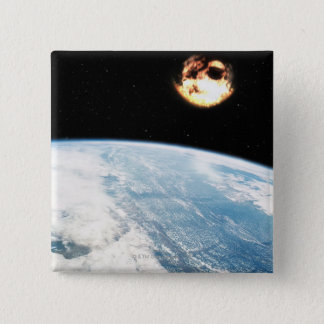 Meteor Nearing Earth Button