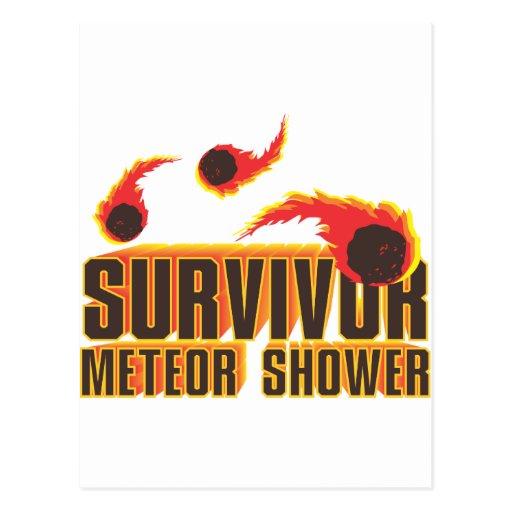 Meteor Shower survivor Postcard