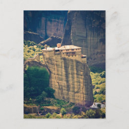 Meteora monastery postcard postcard