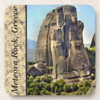 Meteora Rock, Greece Plastic Coasters
