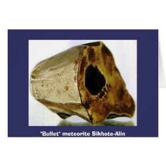 """Meteorite bullet. Sikhote-Alin., """"Bullet"""" meteo... Card"""