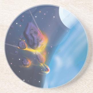 Meteorite Entering Earths Atmosphere Drink Coaster
