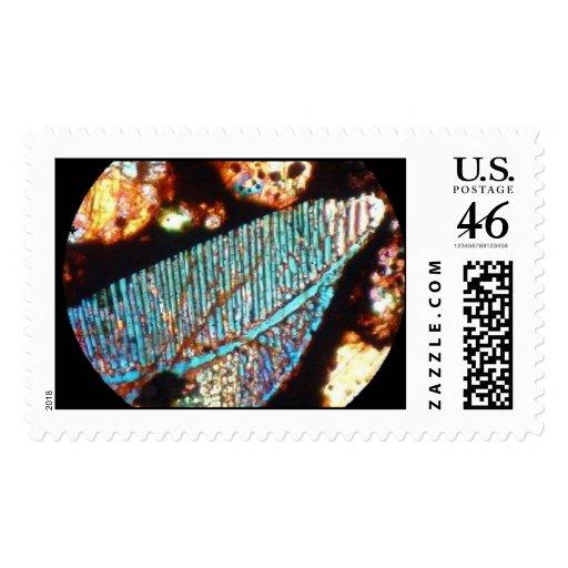Meteorite Kainsaz carbonaceous chondrite t/section Stamp