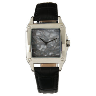 Meteorite,_Ladies_Square_Black_Leather_Watch. Wristwatches