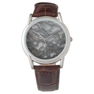 Meteorite,_Mens_Classic_Brown_Leather_Watch. Wristwatch