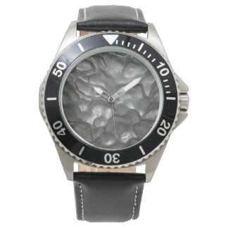 Meteorite,_Mens_Stainless_Steel_Leather_Watch. Wrist Watch
