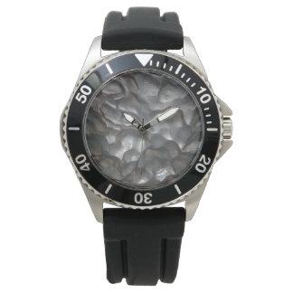 Meteorite,_Rock,_Mens_Rubber_Watch. Wristwatch