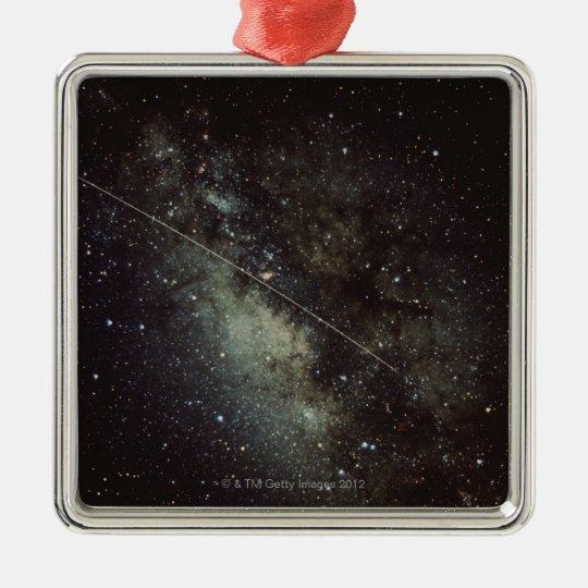 Meteorite Streak Metal Ornament