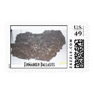 Meteorito de Finmarken Pallasite Timbre Postal