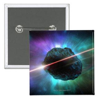 Meteorito en espacio pin