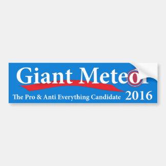 Meteorito gigante 2016 favorable y anti todo pegatina para auto