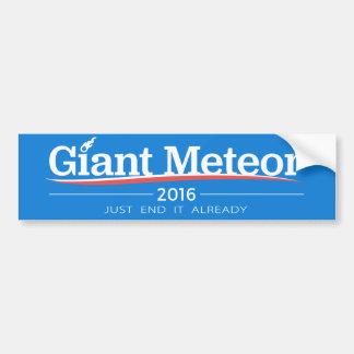 Meteorito gigante 2016 pegatina para auto