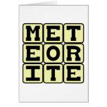 Meteorito, ruina de espacio tarjeta