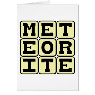 Meteorito, ruina de espacio tarjeta de felicitación