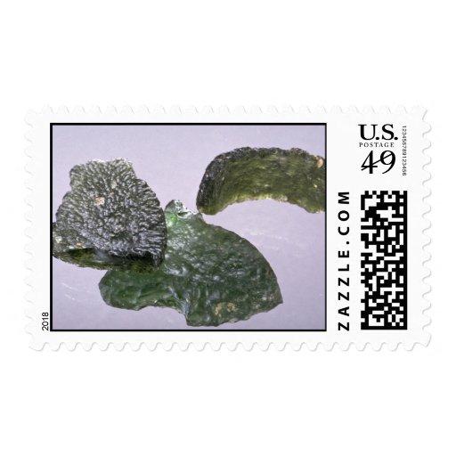 Meteoritos de cristal (tektites) sello