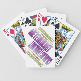 Meteorología 2 obsesionada baraja cartas de poker