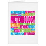 Meteorología colorida felicitacion