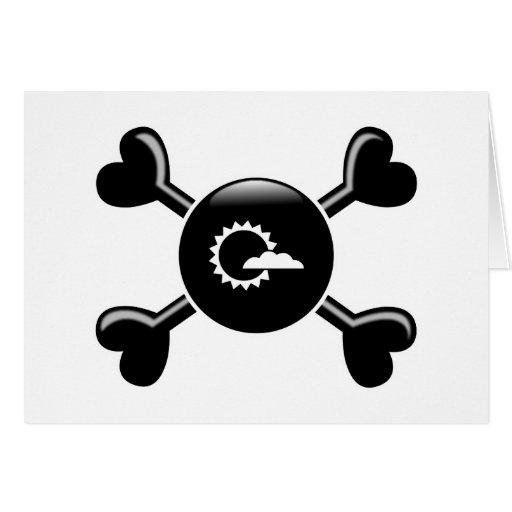 Meteorología de la bandera pirata tarjeton