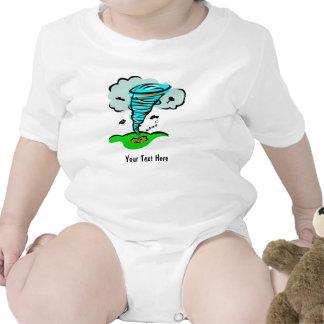 Meteorología del tiempo del tornado del tornado de camiseta