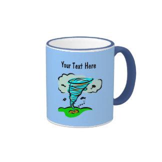 Meteorología del tiempo del tornado del tornado de tazas de café