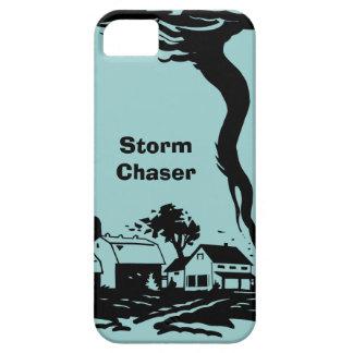 Meteorología del tiempo del tornado del tornado funda para iPhone 5 barely there