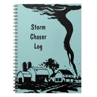 Meteorología del tiempo del tornado del tornado note book