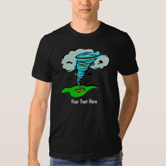 Meteorología del tiempo del tornado del tornado remera